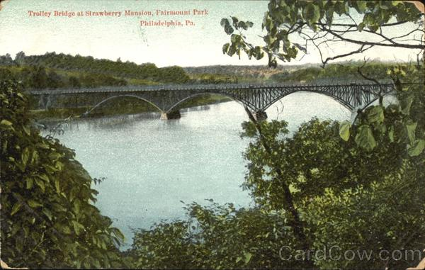 Trolley Bridge Strawberry Mansion, Fairmount Park Philadelphia Pennsylvania