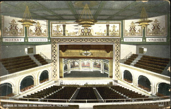 Interior Of Theatre St. Paul Auditorium Minnesota
