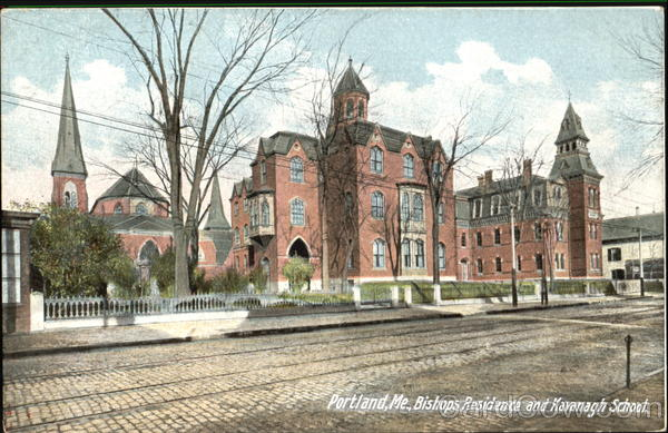 Bishops Residence And Kavanagh School Portland Maine