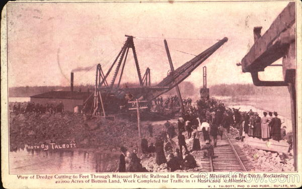 View Of Dredge Missouri Pacific Railroad Talbott Trains, Railroad