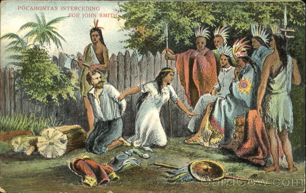 Pocahontas Interceding For John Smith Native Americana