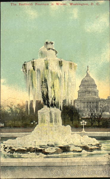 The Bartholdi Fountain In Winter Washington District of Columbia