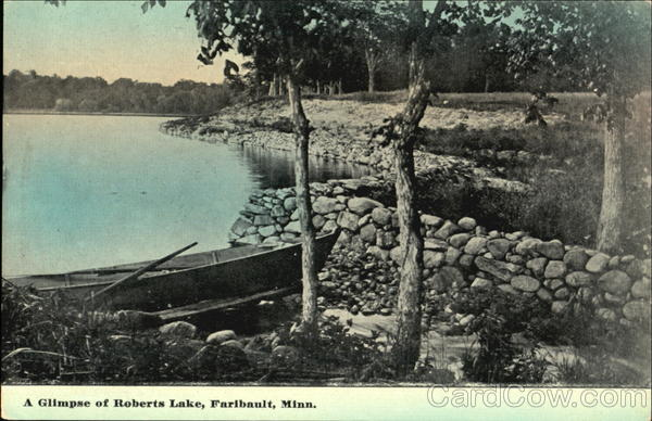 A Glimpse Of Roberts Lake Fairbault Minnesota