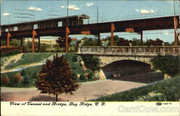 View Of Tunnel And Bridge Bay Ridge New York