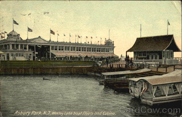 Wesley Lake Boat Floats And Casino Asbury Park New Jersey