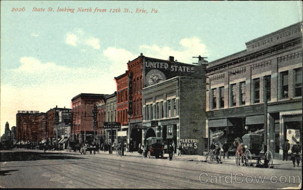 State St. Looking North, 12th St. Erie Pennsylvania