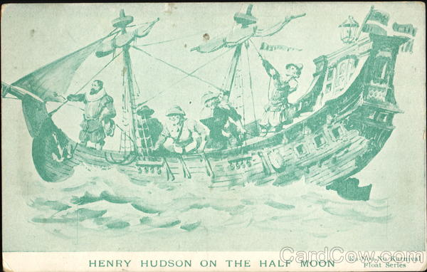 Henry Hudson On The Half Moon Boats, Ships First Day Covers
