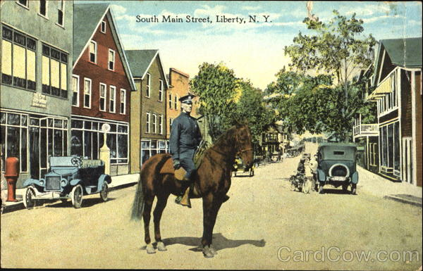 South Main Street Liberty New York Police