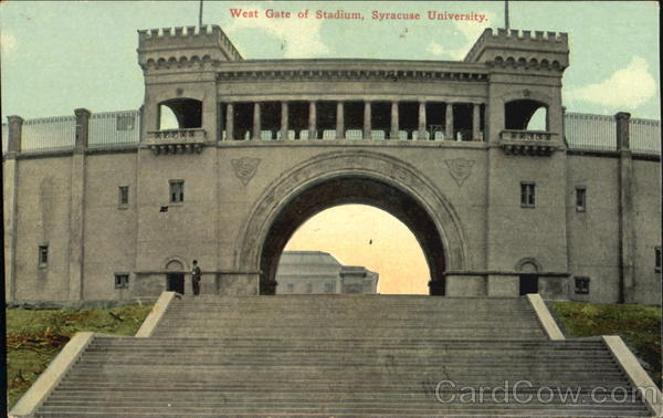 West Gate Of Stadium, Syracuse University New York