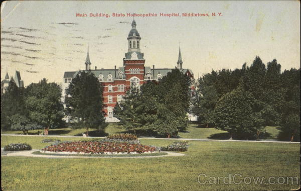 State Homeopathic Hospital Main Building Middletown New York