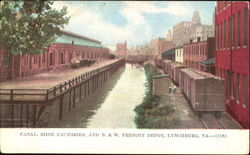 Canal Shoe Factories And N. & W. Freight Depot