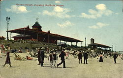 Revere Beach Showing The Bath House