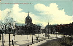 Court House And Grounds Postcard