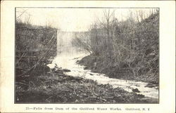 Falls From Dam Of The Guilford Water Works