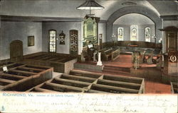 Interior Of St. John's Church Postcard