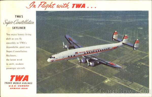 TWA Super-Constellation Skyline Aircraft