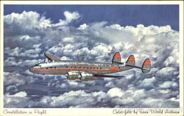 TWA Constellation In Flight Aircraft