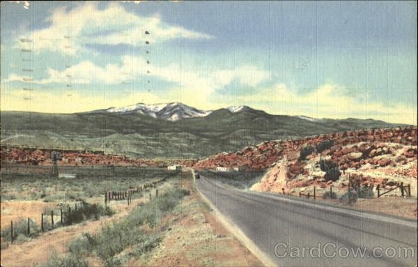 Mt. Taylor From Highway 66 Grants New Mexico