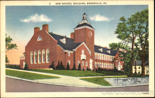New School Building Brookville Pennsylvania