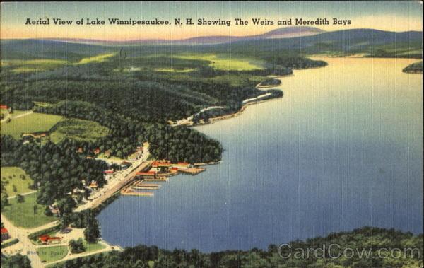 Aerial View Of Lake Winnipesauke Weirs Beach New Hampshire