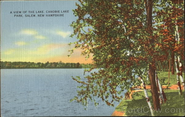 A View Of The Lake, Canobie Lake Park Salem New Hampshire