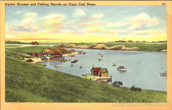 Oyster Houses And Fishing Shacks On Cape Cod Massachusetts
