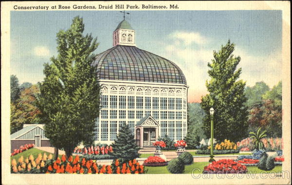 Conservatory At Rose Gardens, Druid Hill Park Baltimore Maryland