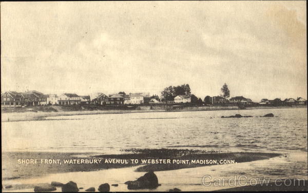 Shore Front, Waterbury Avenue To Webster Point Madison Connecticut