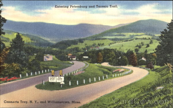 Entering Petersburg And Taconic Trail New York