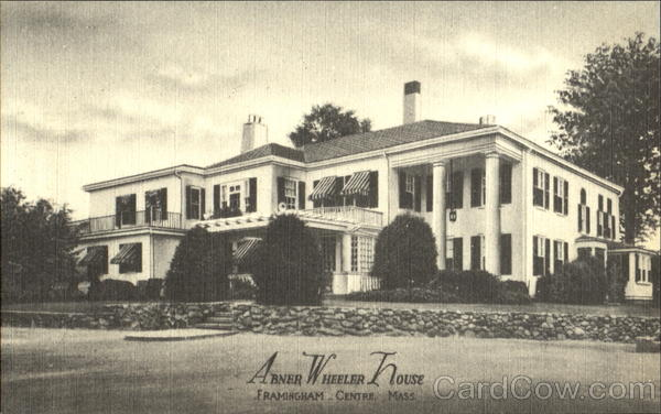 Abner Wheeler House, 680 Worcester Road, Route 9, Corner Main Street Framingham Massachusetts