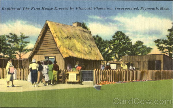 Replica Of The First House Erected By Plimouth Plantation, Incorporated Plymouth Massachusetts