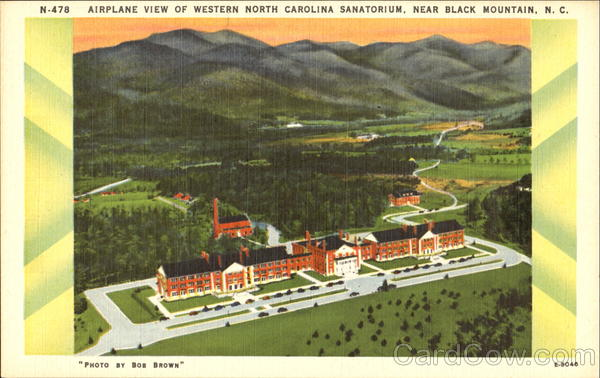 Airplane View Of Western North Carolina Sanatorium Black Mountain