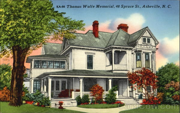 Thomas Wolfe Memorial, 48 Spruce St. Asheville North Carolina