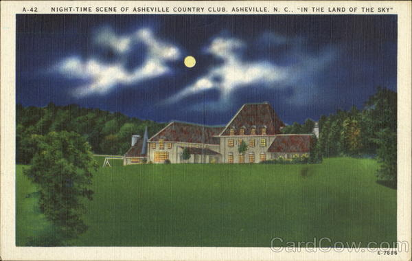 Night-Time Scene Of Asheville Country Club North Carolina