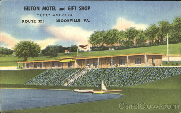 Hilton Motel And Gift Shop, Route 322 Brookville Pennsylvania