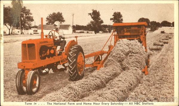 Allis-Chalmers Model WD Tractor The Roto-Baler Advertising
