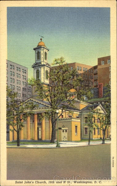 Saint John's Church, 16th and H St. Washington District of Columbia