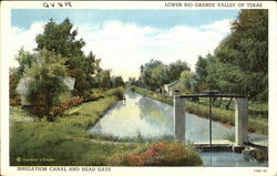 Irrigation Canal And Head Gate Postcard