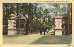 Entrance To Old Fort Raleigh