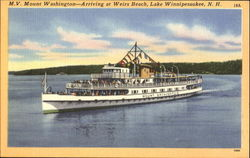 M.V. Mount Washington-Arriving At Weirs Beach