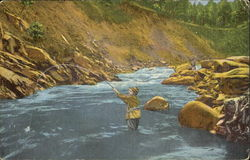 Trout Fishing In Little River, Great Smoky Mountains National Park