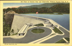 View Of Fontana Dam And Observation Platform