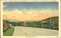 Sunrise Scene Near Swannanoa, U. S. Highway No. 70 b/w Black Mountain & Asheville