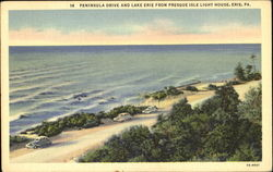 Peninsula Drive And Lake Erie From Presque Isle Light House