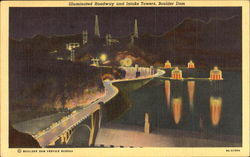 Illuminated Roadway And Intake Towers