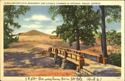 Ocmulgee National Monument And Council Chamber In Distance