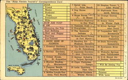 Busy Florida Tourist's Correspondence Card
