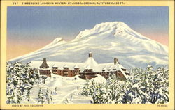 Timberline Lodge In Winter
