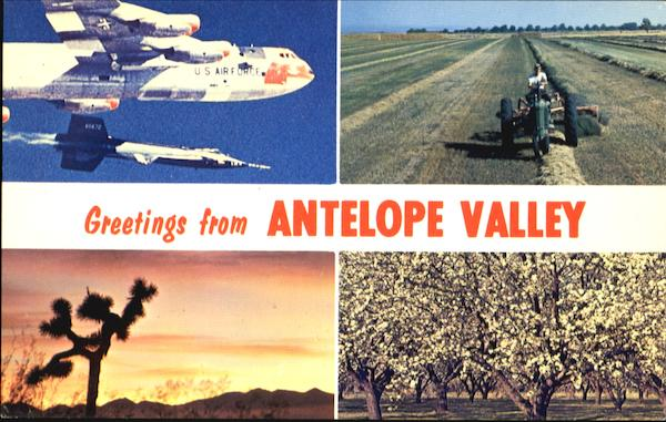 Greetings From Antelope Valley California