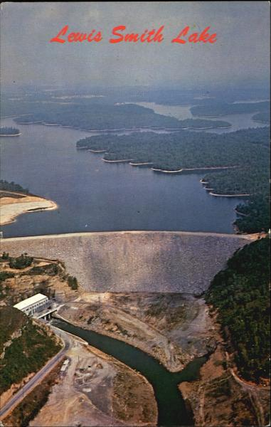 Lewis Smith Dam And Lake Between Cullman And Jasper Alabama
